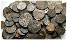 Lot of ca. 130 medieval bronze coins / SOLD AS SEEN, NO RETURN!very fine