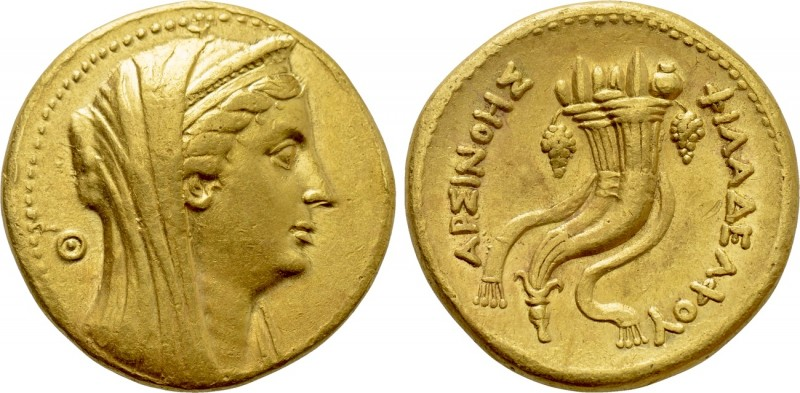 PTOLEMAIC KINGS OF EGYPT. Arsinoe II Philadelphos (Died 270/268 BC). GOLD Mnaiei...