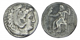 Kings of Macedon. Arados. Philip III circa (324-320) BC.  Time of Alexander III, In the name and types of Alexander III. Struck under Menes or Laomedo...