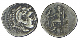 Kings of Macedon. Alexander III (336-323) BC. Chr. Vs .: Head of Hercules with lion's scalp and. R., Back: Zeus aetophoros, Condition:nıce: very, good...