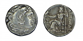 Kings of Macedon. Alexander III,( 336 323) BC. sılver drachm, Head of Heracles to right, wearing lion skin headdress. Rev. ΑΛΕΞΑΝΔΡΟΥ Zeus seated on b...