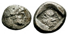 Very İnteresting Archaic Silver Coin, Circa 475-460 BC. Condition: Very Fine  Weight: 10,17 gr Diameter: 20,65 mm