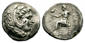 Kingdom of Macedon, Alexander III 'The Great' (336-323 B.C.). AR Tetradrachm Condition: Very Fine  Weight: 16,69 gr Diameter: 27,75 mm