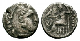 Kingdom of Macedon, Alexander III 'The Great' (336-323 B.C.). AR drachm Condition: Very Fine  Weight: 3,79 gr Diameter: 17,00 mm