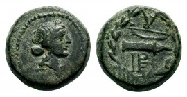 IONIA. Ephesos. Ae (Circa 48-27 BC).  Condition: Very Fine  Weight: 4,23 gr Diameter: 15,35 mm