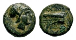 KINGS OF MACEDON. Demetrios I Poliorketes (306-283 BC). Ae. Salamis. Condition: Very Fine  Weight: 2,06 gr Diameter: 11,70 mm