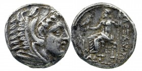 KINGS of MACEDON. Alexander III 'the Great'. 336-323 BC. AR Tetradrachm  Struck under Demetrios I Poliorketes, circa 306-300 BC.  Head of Herakles rig...