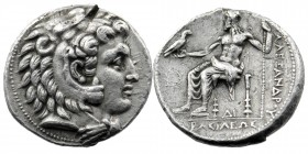 Kings of Macedon, Philip III Arrhidaios (323-317 BC). AR Tetradrachm  Ithe name of Alexander III, Uncertain mint in Cilicia, struck under Philotas or ...