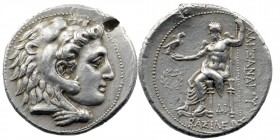 Kings of Macedon, Philip III Arrhidaios (323-317 BC). AR Tetradrachm  In the name of Alexander III, Uncertain mint in Cilicia, struck under Philotas o...