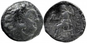 KINGS of MACEDON. Alexander III 'the Great'. 336-323 BC. AR Drachm Head of Herakles right, wearing lion's skin Rev: Zeus seated left on throne, holdin...