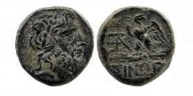 PAPHLAGONIA. Sinope. Ae (Circa 95-90 or 80-70 BC). Struck under Mithradates VI Eupator. Obv: Laureate head of Zeus right. Rev: ΣΙΝΩΠΗΣ. Eagle, with he...