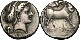 Central and Southern Campania, Neapolis. AR Didrachm, c. 320-300 BC