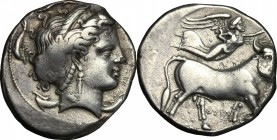 Central and Southern Campania, Neapolis. AR Didrachm, c. 300 BC