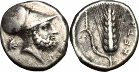 Southern Lucania, Metapontum. AR Stater, c. 340-330 BC