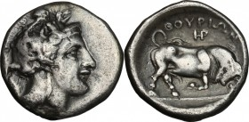 Southern Lucania, Thurium. AR Stater, c. 400-350 BC