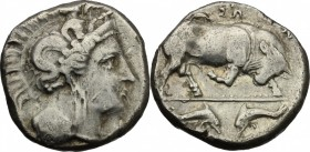 Southern Lucania, Thurium. AR Stater, c. 350-300 BC