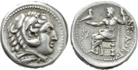 KINGS OF PAEONIA. Audoleon (Circa 315-286 BC). Tetradrachm. Astibos or Damastion mint. Struck in the name and types of Alexander III 'the Great' of Ma...