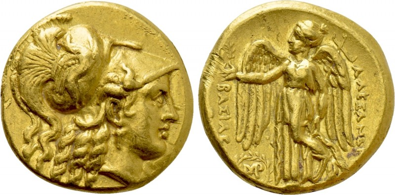 KINGS OF MACEDON. Alexander III 'the Great' (336-323 BC). GOLD Stater. Babylon. ...