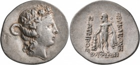 ISLANDS OFF THRACE, Thasos. Circa 148-90/80 BC. Tetradrachm (Silver, 35 mm, 14.46 g, 1 h). Head of Dionysos to right, wearing ivy wreath and taenia. R...