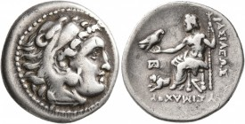 KINGS OF THRACE. Lysimachos, 305-281 BC. Drachm (Silver, 19 mm, 4.20 g, 5 h), in the types of Alexander III, Lampsakos, circa 299/8-297/6. Head of Her...