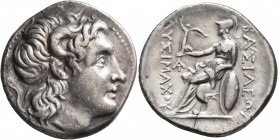 KINGS OF THRACE. Lysimachos, 305-281 BC. Tetradrachm (Silver, 29 mm, 16.35 g, 7 h), uncertain mint, circa 297/6-282/1. Diademed head of Alexander the ...
