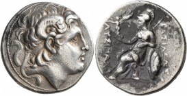 KINGS OF THRACE. Lysimachos, 305-281 BC. Tetradrachm (Silver, 29 mm, 16.92 g, 1 h), uncertain mint. Diademed head of Alexander the Great to right with...