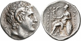 KINGS OF THRACE. Lysimachos, 305-281 BC. Tetradrachm (Silver, 28 mm, 17.18 g, 12 h), Ephesos, circa 270-250. Diademed head of Alexander the Great to r...