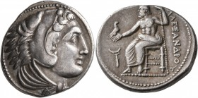 KINGS OF MACEDON. Alexander III 'the Great', 336-323 BC. Tetradrachm (Silver, 27 mm, 17.20 g, 2 h), Amphipolis, struck under Antipater, circa 325-323/...
