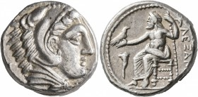 KINGS OF MACEDON. Alexander III 'the Great', 336-323 BC. Tetradrachm (Silver, 24 mm, 17.27 g, 1 h), Amphipolis, struck under Antipater, circa 325-323/...