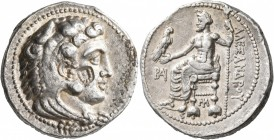 KINGS OF MACEDON. Alexander III 'the Great', 336-323 BC. Tetradrachm (Silver, 26 mm, 17.20 g, 12 h), Myriandros, struck under Menes or Philotas, 330-3...