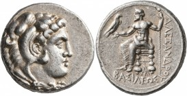 KINGS OF MACEDON. Alexander III 'the Great', 336-323 BC. Tetradrachm (Silver, 26 mm, 17.19 g, 3 h), Arados, struck under Menes or Laomedon, 324/3-320....