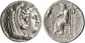 KINGS OF MACEDON. Alexander III 'the Great', 336-323 BC. Tetradrachm (Silver, 26 mm, 17.20 g, 6 h), Arados, struck under Menes or Laomedon, 324/3-320....