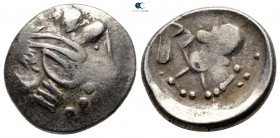 Eastern Europe. Imitation of Philip II of Macedon 200 BC. Sattelkopfpferd type. Tetradrachm AR
