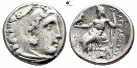 "Kings of Macedon. Kolophon. Philip III Arrhidaeus 323-317 BC. In the name and types of Alexander III ""The Great"". Drachm AR"