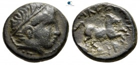 Kings of Macedon. Uncertain mint in Macedon. Alexander II 370-367 BC. Bronze Æ