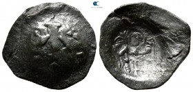 AD 1400-1450. Uncertain emperor. Second empire. Trachy AE