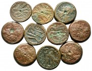 Lot of ca. 10 greek bronze coins / SOLD AS SEEN, NO RETURN!very fine