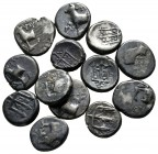 Lot of ca. 13 greek silver coins / SOLD AS SEEN, NO RETURN!very fine