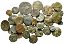 Lot of ca. 38 greek bronze coins / SOLD AS SEEN, NO RETURN!nearly very fine
