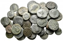 Lot of ca. 50 roman provincial bronze coins / SOLD AS SEEN, NO RETURN!nearly very fine