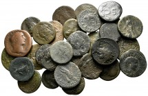 Lot of ca. 30 roman provincial bronze coins / SOLD AS SEEN, NO RETURN!nearly very fine