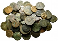 Lot of ca. 60 roman provincial bronze coins / SOLD AS SEEN, NO RETURN!nearly very fine