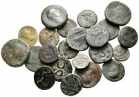 Lot of ca. 22 roman provincial bronze coins / SOLD AS SEEN, NO RETURN!nearly very fine