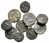 Lot of ca. 10 late roman bronze coins / SOLD AS SEEN, NO RETURN!very fine