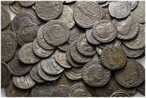 Lot of ca. 100 late roman bronze coins / SOLD AS SEEN, NO RETURN!very fine