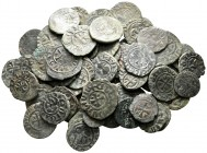 Lot of ca. 70 medieval bronze coins / SOLD AS SEEN, NO RETURN!very fine