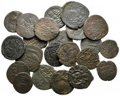 Lot of ca. 22 islamic bronze coins / SOLD AS SEEN, NO RETURN!very fine