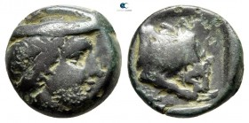 Kings of Macedon. Aeropos 398-395 BC. Dichalkon Æ
