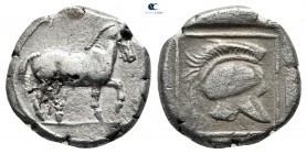 Kings of Macedon. Perdikkas II circa 451-413 BC. Struck circa 451/0-447/. Tetrobol AR