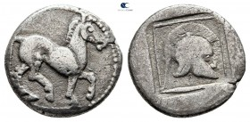Kings of Macedon. Aigai. Alexander I 498-454 BC. Struck circa 480/79-477/6 BC. Tetrobol AR